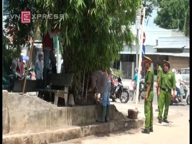 Cảnh sát lật tung quanh biệt thự 6 người bị thảm sát