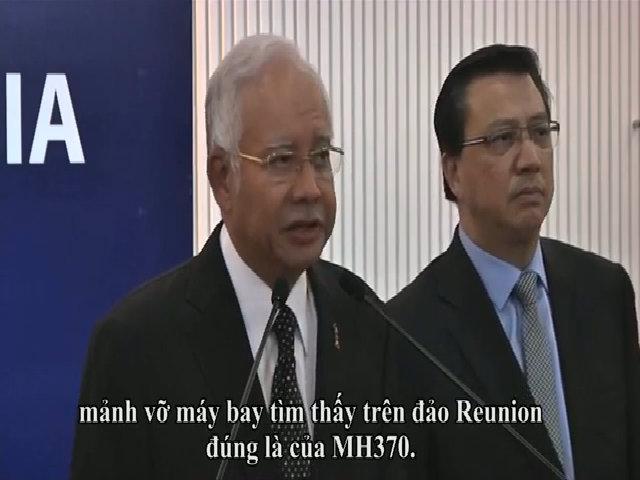 Thủ tướng Malaysia xác nhận cánh máy bay dạt lên Reunion là của MH370