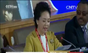 Bành Lệ Viện phát biểu tiếng Anh tại Liên Hợp Quốc
