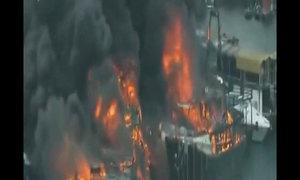 Cháy lớn tại cảng Hong Kong thiêu rụi 10 tàu