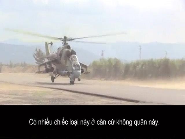 Mi-24 - trực thăng bảo vệ căn cứ không quân Nga tại Syria