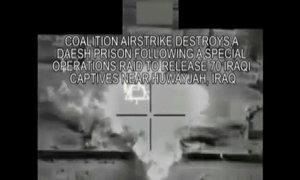 Mỹ không kích nhà tù IS sau khi cứu con tin