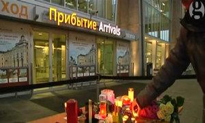 Nến, hoa tưởng niệm các nạn nhân trong thảm kịch máy bay Nga