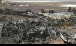 Phần bị thiêu rụi của chiếc máy bay Nga xấu số