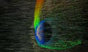 Bão mặt trời quét sạch khí quyển sao Hỏa