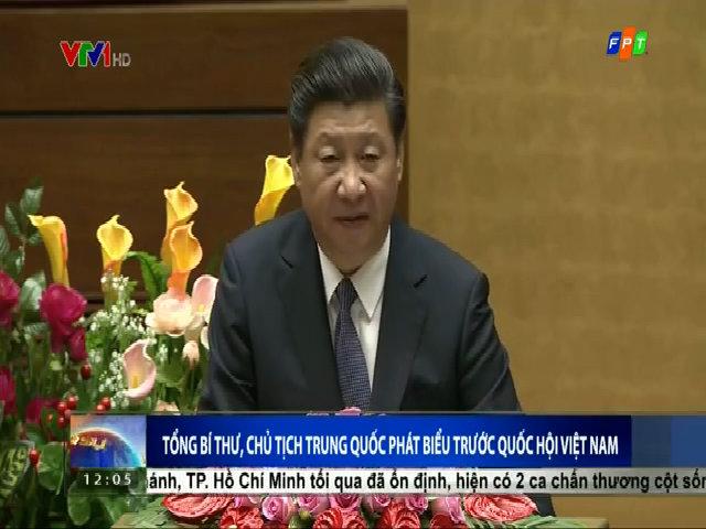 Chủ tịch Trung Quốc phát biểu trước Quốc hội Việt Nam