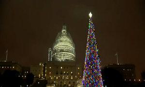 Mỹ thắp đèn cây thông Noel tưởng niệm nạn nhân vụ xả súng