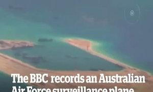 Phi công Australia gọi hải quân Trung Quốc trên đá Vành Khăn