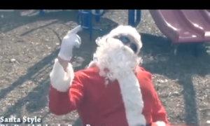 Ông già Noel hát chế bài Gangnam Style