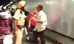 Hầm Thủ Thiêm ách tắc vì hai nhóm thanh niên đánh nhau