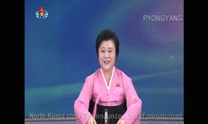 Biên tập viên Triều Tiên thông báo về vụ thử bom nhiệt hạch