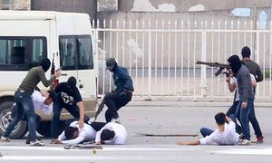 Diễn tập giải cứu con tin từ nhóm khủng bố