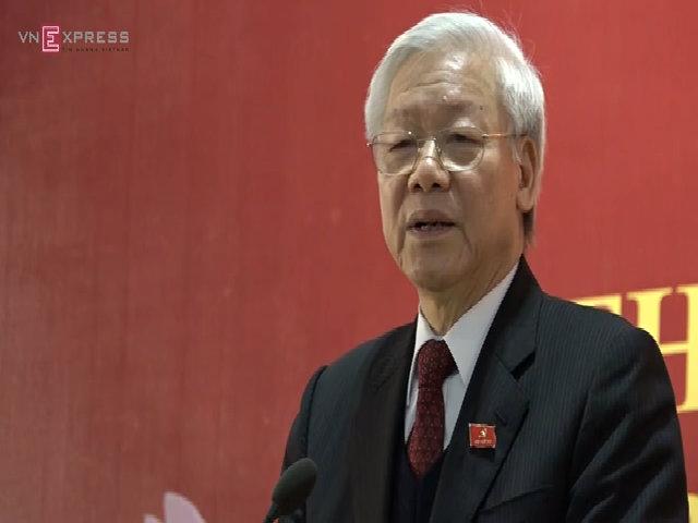 Tổng bí thư Nguyễn Phú Trọng chia sẻ kết quả bầu cử và mục tiêu nhiệm kỳ mới