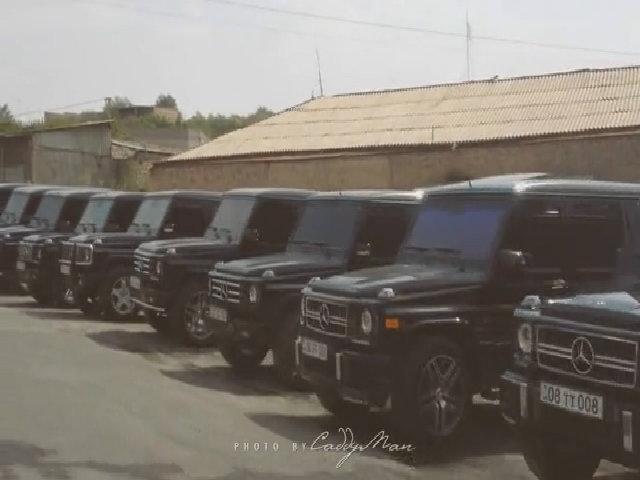 Dàn Mercedes G-class dự đám cưới ở Armenia