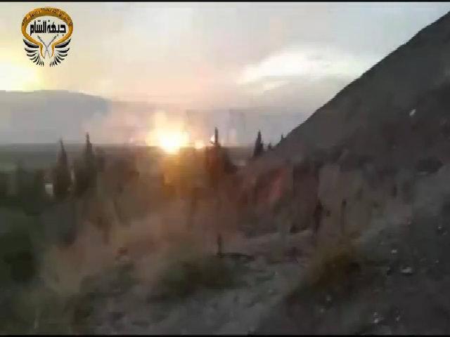 Chiến đấu cơ Nga ném bom trên chiến trường Syria