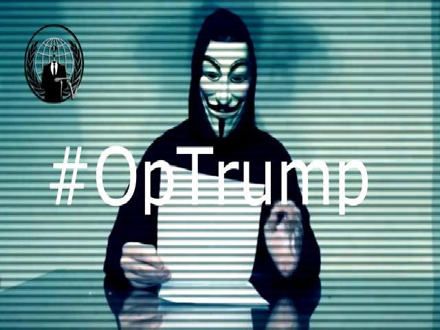 Nhóm hacker Anonymous tổng tấn công Donald Trump