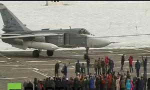 Chiến đấu cơ Sukhoi trở về Nga từ Syria