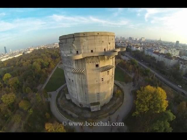 Pháo đài phòng không của phát xít Đức nhìn từ trên cao