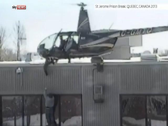 Tù nhân Canada đu dây bám trực thăng vượt ngục