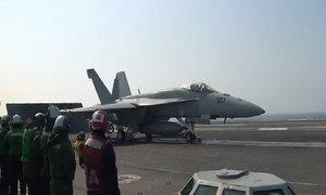 Trên boong tàu sân bay Mỹ trong cuộc tập trận khiến Triều Tiên giận dữ