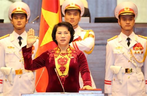Chủ tịch Quốc hội tuyên thệ nhậm chức
