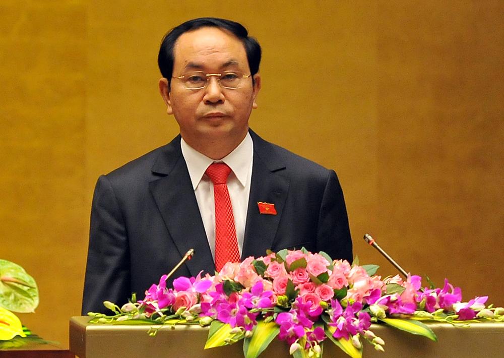 Ông Trần Đại Quang tuyên thệ nhậm chức