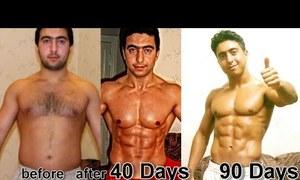 90 ngày tập luyện từ thừa cân trở thành chàng 6 múi