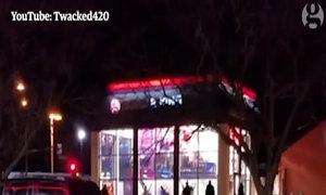Nhân viên nhà hàng Mỹ bị lừa đập vỡ cửa sổ