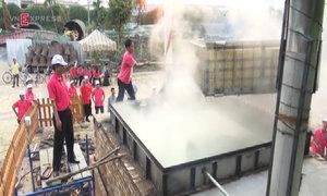 50 người làm bánh chưng 2,5 tấn cúng giỗ vua Hùng