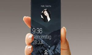 Ý tưởng iPhone 7 với phím Home trên màn hình