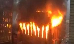 Hỏa hoạn bao trùm nhà thờ New York