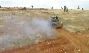 Một cuộc giao tranh trên chiến trường Syria nhìn từ trên cao