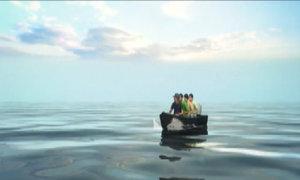 Hai tháng ăn mòng biển của thủy thủ trôi dạt trên biển