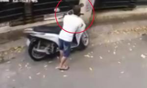 Trộm bẻ khóa SH trong 4 giây ở Hà Nội