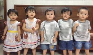 Hành trình từ hoài thai đến 3 tuổi của ca sinh 5 ở Sài Gòn