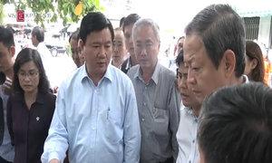 Ông Đinh La Thăng cảnh cáo lãnh đạo Hóc Môn khi đi thị sát