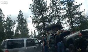 Ba xe đấu đầu 8 người bị thương
