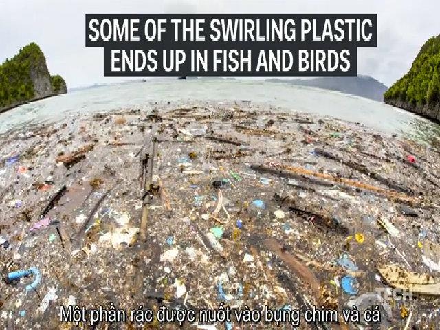 Những đảo rác khổng lồ trôi nổi giữa đại dương