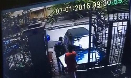 Cướp ôtô chở vàng ở Hà Nội