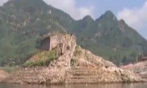 Đoạn tường Vạn Lý Trường Thành nổi lên sau 40 năm chìm dưới nước