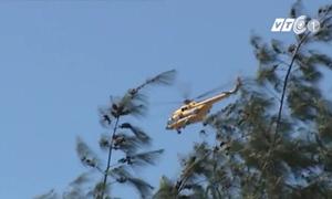 Các phương tiện tìm kiếm máy bay bị mất tích tại Nghệ An