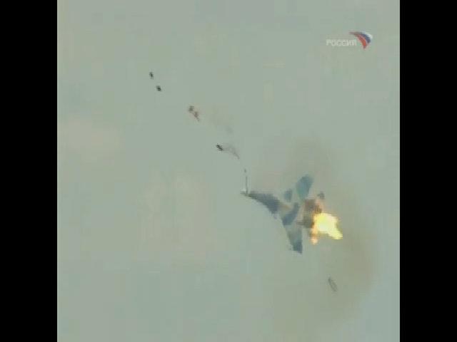 Su-30 rơi tại triển lãm hàng không ở Pháp