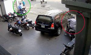 Bảo vệ sập bẫy lừa của hai tên trộm xe SH