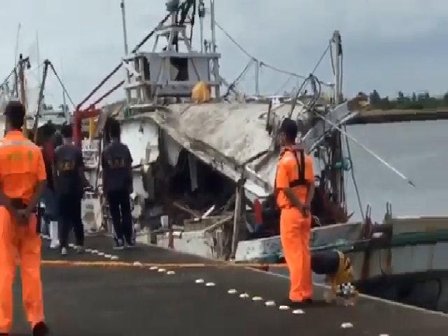 Video tàu cá Đài Loan bị tên lửa xuyên qua