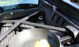 Dùng động cơ Lamborghini Huracan để rán trứng