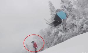 Pha tiếp đất bất thành khi trượt tuyết