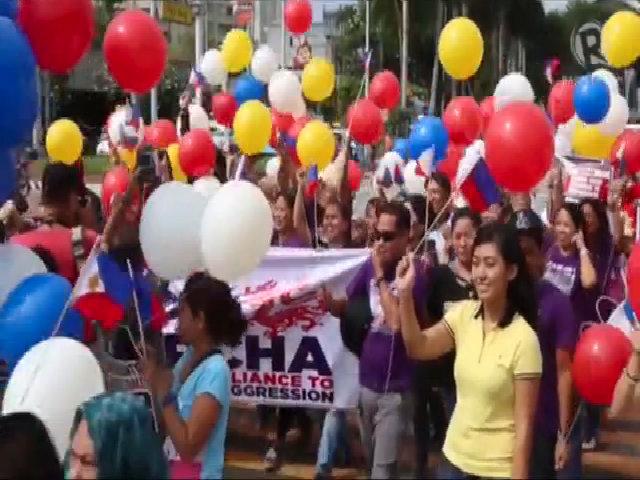 Người Philippines tuần hành phản đối 'đường lưỡi bò' Trung Quốc