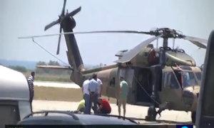 Khoảnh khắc lính Thổ Nhĩ Kỳ đáp trực thăng xuống Hy Lạp