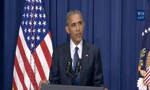 Obama nói đùa trong họp báo về vụ xả súng ở Munich