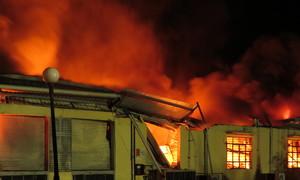Biển lửa cuồn cuộn ở khu công nghiệp Hải Phòng